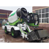 中科聚峰JF-4方B款自上料搅拌车 搅拌运输车农村修路必备工程机械