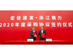 强强联手!浙江鼎力&宏信建发2020年度采购协议签约仪式隆重举行!